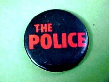 Original 1980's THE POLICE STING CONCERT CANADA Souvenir PIN / Pin-back Button