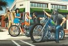 David Mann - motorhead, biker life art 002 Wall Decor Poster , no Framed