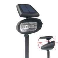 4 Pack Outdoor 4 SMD LED Solar Landscape Path Spot Flood Lights Lamp Post Yard