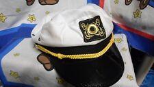 White Sailor Boat Captains Hat Cap - Skipper Gilligan Halloween Costume