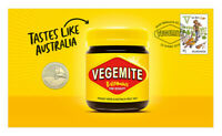 2019 Aussie Alphabet Vegemite Stamp and Coin Cover PNC
