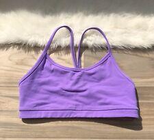 b021dbc0b7 Lululemon Bra Flow Y Sports Size 4 Lilac Yoga Free Run Racerback Mesh Top  Tank