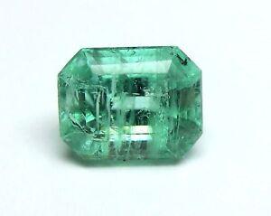 1.68 Karat Poliert Natürliches Grün Beryll Smaragd