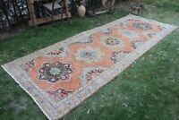 """Vintage Handmade Turkish  Oushak Runner Rug 12'5""""x4'9"""""""