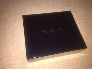 THIERRY MUGLER GIFT BOX  - EMPTY - BLACK WITH MUGLER LOGO