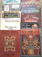 10 Folk Art Tole Painting Books Thode Albrecht Jo Sonja Mitchell Rosemaling Lot