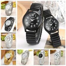 Fashion Unisex Watch Quartz Analog Wristwatch Arabic Number Dial Elastic Band