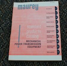 1970's MAUREY MFG MECHANICAL POWER TRANSMISSION EQUIPMENT Catalog  SPC-MPTE red