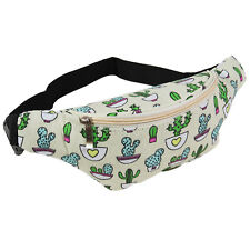 Cool Cactus Fanny Pack Waist Belt Bag Green Tropical Desert Festival Party