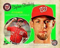 "Stephen Strasburg Washington Nationals MLB Retro Composite Photo (Size 8"" x 10"")"