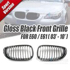 Gloss Black Kidney Front Mesh Grille for BMW 5 series E60 E61 2003-09 M5 2005-10