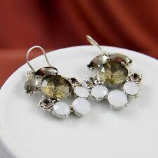 Boucles d`Oreille Fleur Crystal Gris Retro Ancien Style Soirée Mariage BB 4