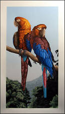 DALLAS JOHN Cuban Macaws Signed Fine Art Serigraph Artwork Submit Offer