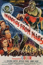 Vintage Sci Fi Movie Poster Invaders From Mars  18x24
