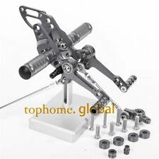 For Ducati Streetfighter 848  CNC adjusting Rearset Footpegs Rear set Grey