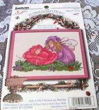 JANLYNN COUNTED CROSS STITCH KIT 07-110 Sweet Pea 7 x 5 The flutter blossom fam