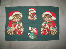 PRINTED PANEL OF 4 CHRISTMAS MOUSE APPLIQUES