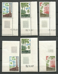 Gabon 1967 - Stamps n° 220, 221 & 222 - Perforated & Inperforated - MNH ** (#2)