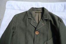 Freewheelers Morgan Olive Moleskin Sack Coat  Size 38
