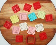 SUPER CUTE Baby Shower Mini Cookie / Fondant Cutter Set - Baby Blocks  Baby Girl