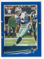2020 Panini Donruss football Blue press proof photo Variation Ezekiel Elliott