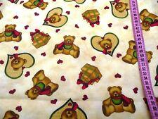 Patchworkstoff by Cranston Teddy bear X-mas time  Teddy und Geschenke ab 50cm