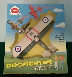 1990 Cox Dogfighter Sopwith Camel Model Airplane w/.049 Engine & Sealed Box