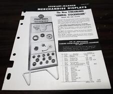 Vintage 1952 Stewart Warner Merchandise Sign Displays Dealer Catalog O