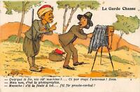 CPA ILLUSTRATEUR SIGNE CHAGNY LE GARDE CHASSE