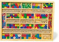 Fädelperlen im Kasten Holz Fädelbox