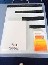 enveloppe d'expédition plastique blanche fond noir  A5 A4 A3 A3++ de 10 à 1000ex