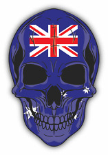 "Skull Flag Australia Car Bumper Sticker 4"" x 5"""