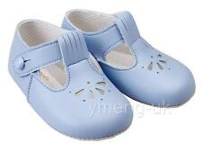Lovely Baby T bar Pram Shoes/Blue/White/Patent/BAY PODS/0/3/6/12/18 Months