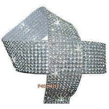 5 x Strip Diamonte 3mm Chaton Ribbon Clear Silver Iron-On Crystal Diamante Reel