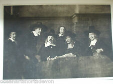 ANTIQUE PRINT 1901 THE SYNDICS OF THE CLOTH HALL BY REMBRANDT VINTAGE ART PRINT