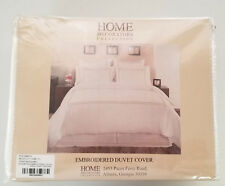 Embroidered Duvet Cover King Craft Brown - Home Decorators Collection Off White