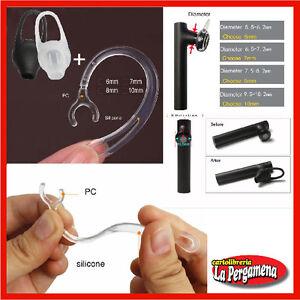 Clip per auricolare Bluetooth ricambio orecchio archetto 6/7/8/10 mm+ Gommini