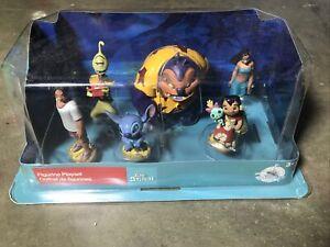 DISNEY Store FIGURE Playset LILO & STITCH Figurine 6 Piece PLAY SET Topper 599