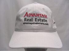 Ventaja Auténtico Estate - Blanco - Ajustable Tira Trasera Gorra sombrero