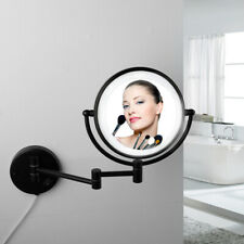 Matte Black 3X Magnifying Mirror LED Dual Sided Makeup Beauty Mirror Wall Mount