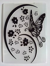 Butterfly Flowers Embossing Folder Card Making Scrapbooking Journaling Planner