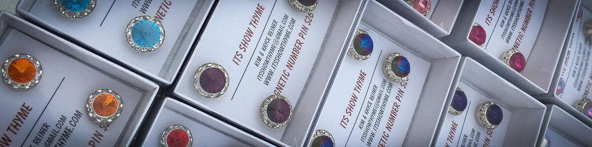 15MM Provence Lavender Competition number holder Magnet Number Pin