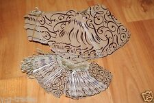 LOT 200 100 LARGE 100 SMALL Scalloped COCOA Print  Paper Price Tags with String