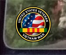 "ProSticker 1070 (One) 4"" United States Veteran Vietnam War Decal Sticker"