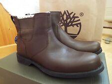 Nuevas Botas Zapatos Timberland Para Hombre De Cuero Marrón Oscuro WP Chelsea UK 6.5 Eur40 US7