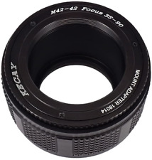 KECAY M42 42mm to 42mm Mount Focusing Helicoid Ring Adapter 35mm - 90mmBlack