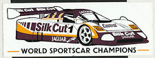 Silkcut Jaguar mundo tenido coches campeones 1988 XJR9 Le Mans raro original de la etiqueta engomada