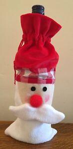 Santa Wine Bottle Jacket Cover Novelty Father Christmas Gift Wrap Aid Xmas Party
