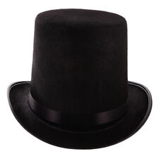 Tall Black Top Hat Victorian Steampunk Magician Ringmaster Costume Functional 1X