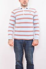 Lacoste Mens Long Sleeved Polo Top Cotton Vintage Multi Striped Auth. S Casuals